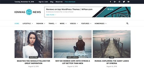 ionMag Theme
